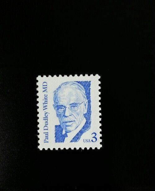1986 3c Dr. Paul Dudley White, Cardiologist Scott 2170