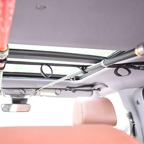 2pcs Car Fishing Rod Holder 5 Road Vehicle Rod Carrier Racks Tie Band