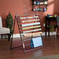 Wrapping Paper Storage Rack Black Metal Easel To Wall Mount Movable Racks