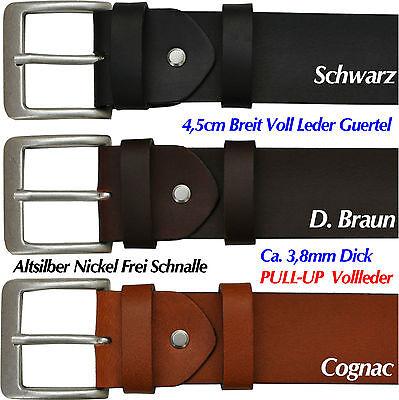 3,8mm Spessa 4,5cm Larga Pull Up Pieno Pelle Cintura Colore E Lunghezza Selezionabile Ot45-mostra Il Titolo Originale