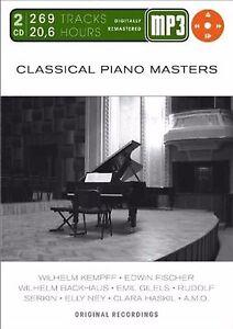 Classical-Piano-Masters-Mp-3-Doppel-CD-MP3-Audio-Neu-amp-OVP