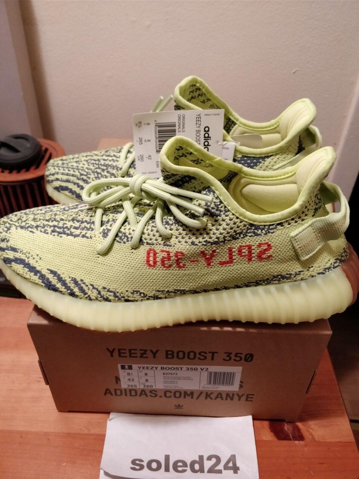 Adidas Yeezy Boost 350 V2 US 8.5 Semi Frozen Yellow B37572