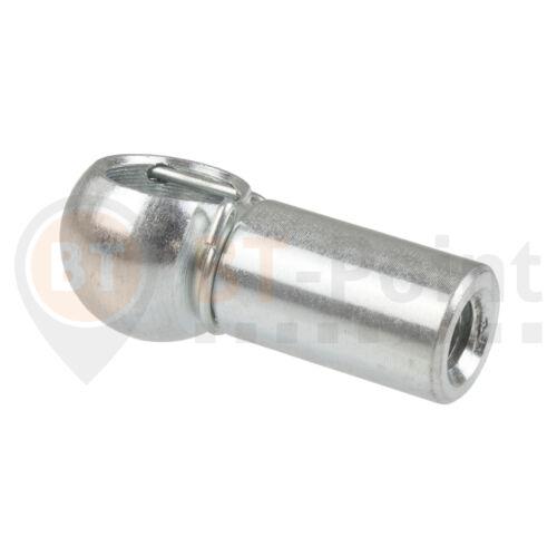 Kugelpfanne Stahl verzinkt B10 M6 DIN 71805 Sicherungsbügel Kugel Pfanne Kopf