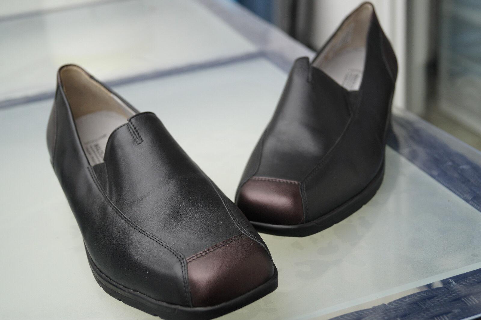 WALDLÄUFER Damen Comfort Schuhe Mokassins Leder Einlagen schwarz Gr.7,5 G 41 NEU