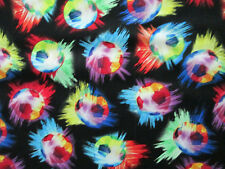 Navajo Indian Blue Tans Black Overall Print Cotton Fabric 12 Inch Scrap Cut