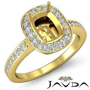 Cushion-Shape-Semi-Mount-1Ct-Diamond-Engagement-14k-Yellow-Gold-Halo-Set-Ring