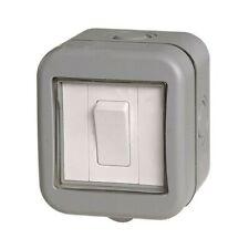 2 x Homebase Get Imperméable Extérieur Isolé Interrupteur 1 Gang 2 Way IP55