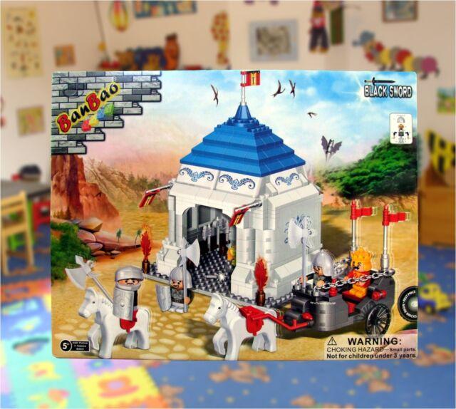 BanBao Ritterzelt König Pferd Pferde Black Sword 4 Figuren 460 Teile 8263 NEU