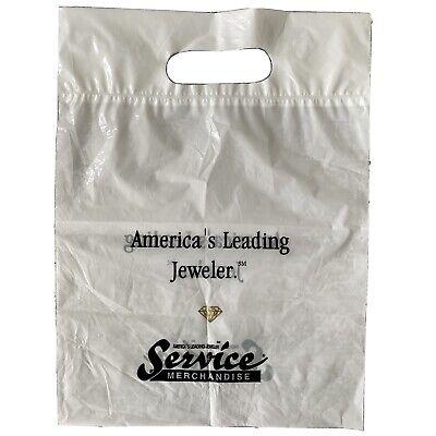 Vintage Service Merchandise White Black Plastic Shopping Jewelry Retail Bag Die Ebay