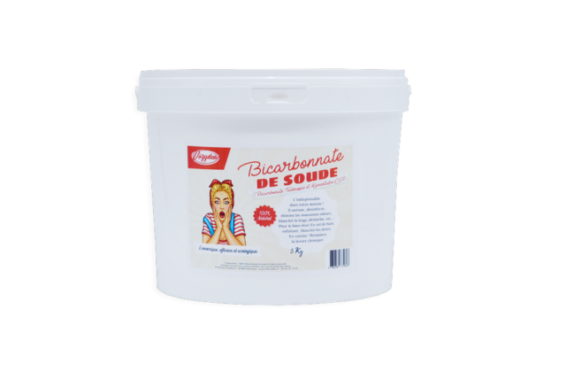 "Bicarbonate 5Kg - Alimentaire E500 ""Extra fin"" + mini guide OFFERT"