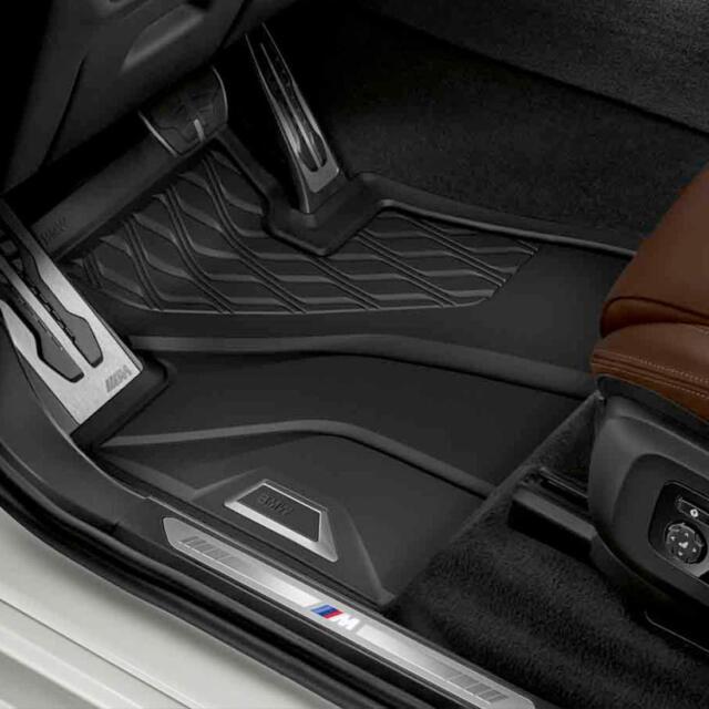 BMW X7 G07 Series Black Set Of 4 Rubber Floor Mat Set 2019