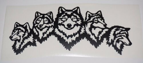 Wall Sticker custom Vinyl indoor decal window laptop removable Wolf Wolves