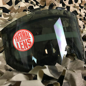 NEW JT Elite Paintball Mask Replacement Dual Pane Thermal Anti-Fog Lens - Smoke