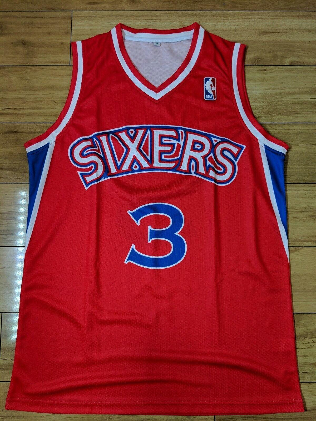 Allen Iverson 1997 Philadelphia 76ers Replica NBA Jersey - Small