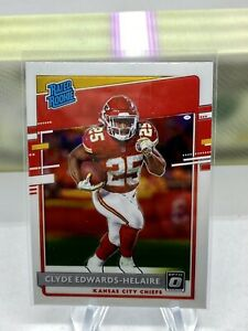 CLYDE EDWARDS-HELAIRE 2020 PANINI DONRUSS OPTIC RATED ROOKIE RC KC CHIEFS