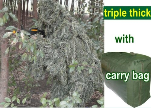 Triple Thick Tactical llie Sniper Suit with 3D leaf for Hunting Paint Ball