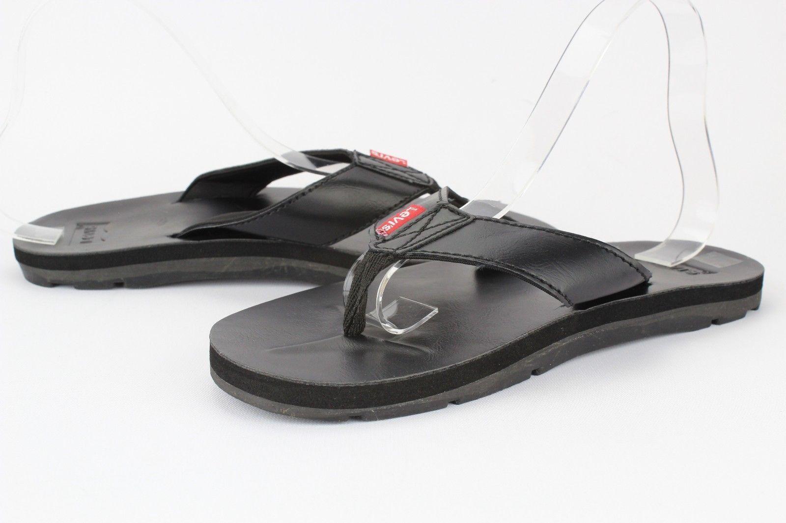 8ce37f0f0623 Men Levis Heartland Heartland Heartland Mix J2 Black Casual Sandal Fit Flop  Thong New Original a075a7