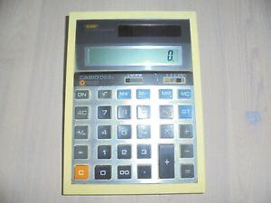 vintage-japan-CASIO-DS-2B-Solar-Taschenrechner-grosse-Tasten-80s-oldschool-Buero