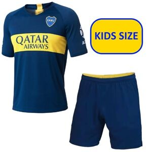 new concept d8b7d 05e02 Details about 2018/2019 BOCA JUNIORS JERSEY FOR KIDS + SHORTS - SIZES FROM  3YRS to 13YRS OLD!