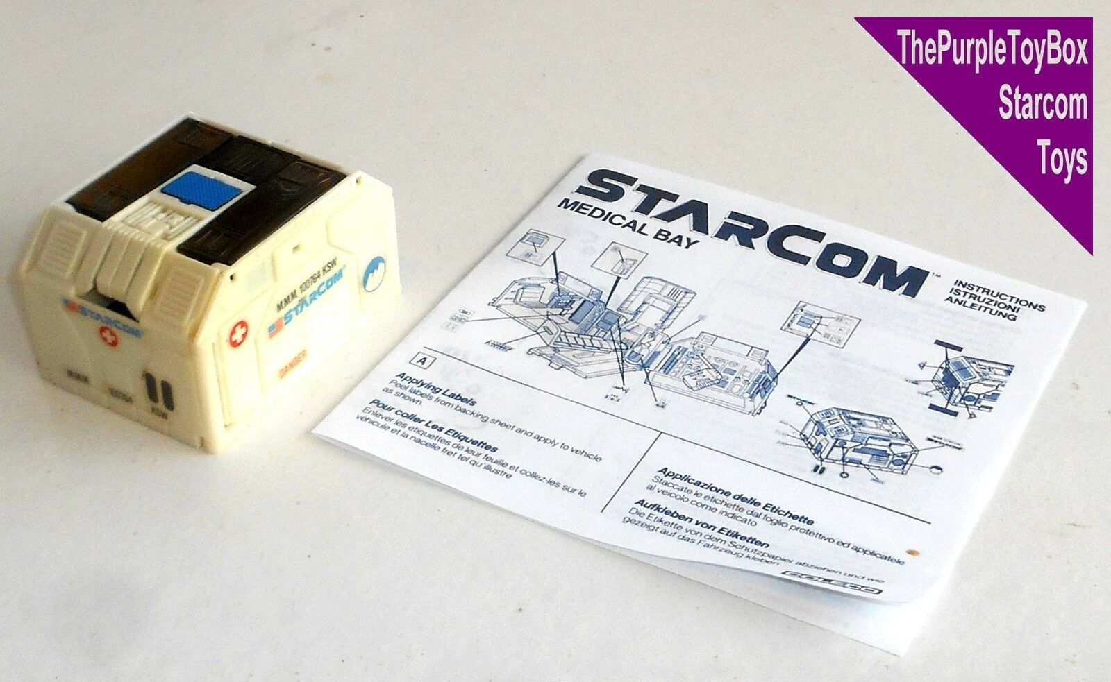 (R002) Vintage 1980's Starcom Toys  MEDICAL BAY  Star Command - WORKING