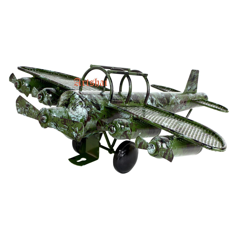 artshai sembrare antico antico antico disegno biplano militare modello vintage metal toy collictible cb1558