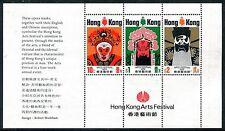 Hong Kong 298a sheet, MNH.Michel Bl.1. Chinese Opera,1974. Masks SCV-$65. x16083