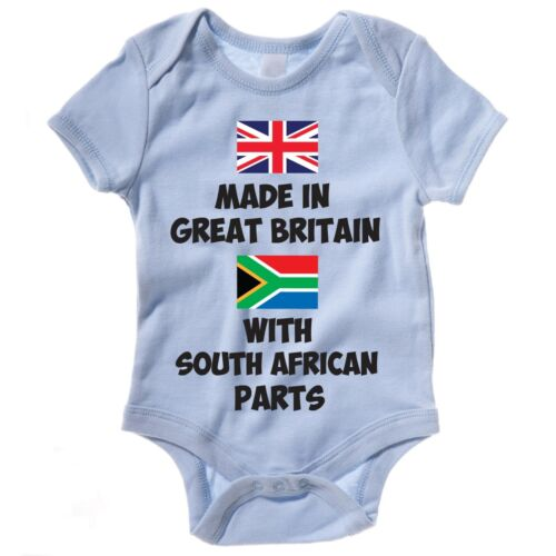 Funny Baby Grow//Gilet-Fabriqué en Grande-Bretagne avec South African parties
