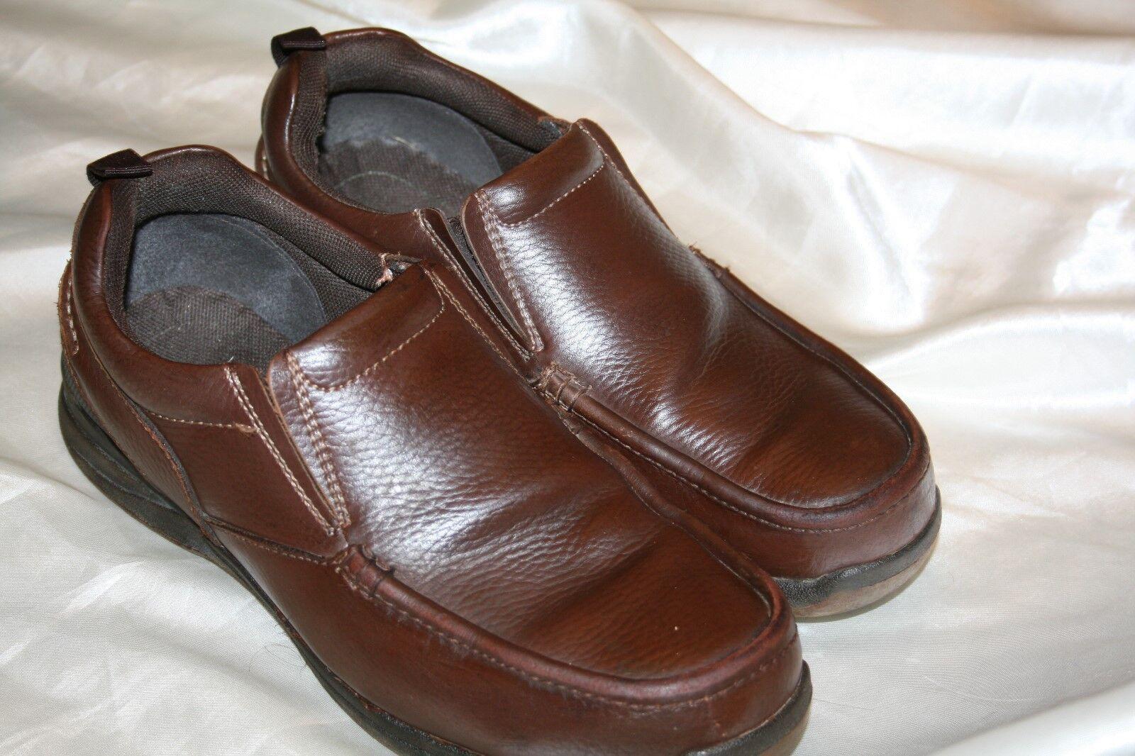 Nunn Bush Comfort Brown Leather Mens Loafer Shoes Size 8.5 M 84354-200