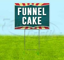 Funnel Cake 18x24 Yard Sign With Stake Corrugated Bandit Usa Business Treat