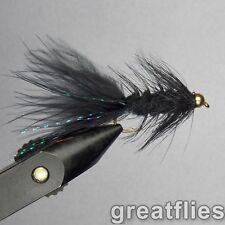 1 dozen (12) - Woolly Bugger - BLACK - Bead Head