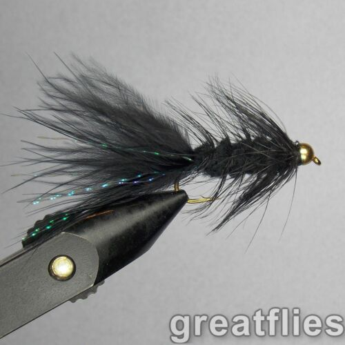 Bead Head 12 1 dozen BLACK - Woolly Bugger