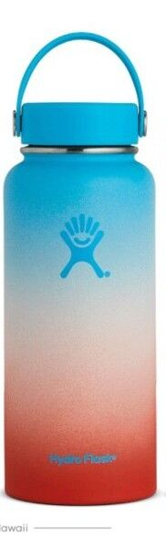 Hydro Flask 32 oz Rare Hawaii Shave Ice NEW Coconut Ocean bluee Red White