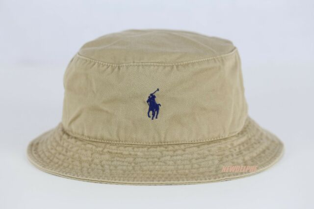 Polo Ralph Lauren 100 Cotton Beach Golf Bucket Hat Cap Khaki S m for ... 784f8f0a9100
