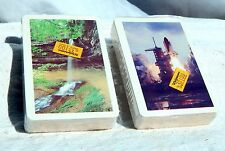 Vintage ARRCO Playing Cards Lot of 2 New Sealed Decks Space Shuttle Waterfall