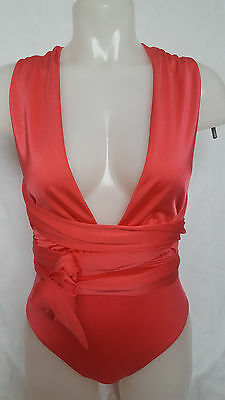 New Ex Branded Celebrity Favourite Multiway Swimsuit in Brulee Shiny Swimwear