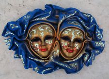 Gemini - Maschera veneziana artigianale in ceramica e cuoio