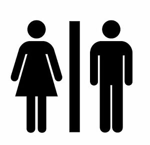 Restroom-Bathroom-Vinyl-Decal-Sticker-Men-Women-Unisex-YOU-PICK-SIZE-amp-COLOR
