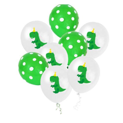10pcs 12 inch kids green dinosaur balloon confetti ballons birthday party decorT