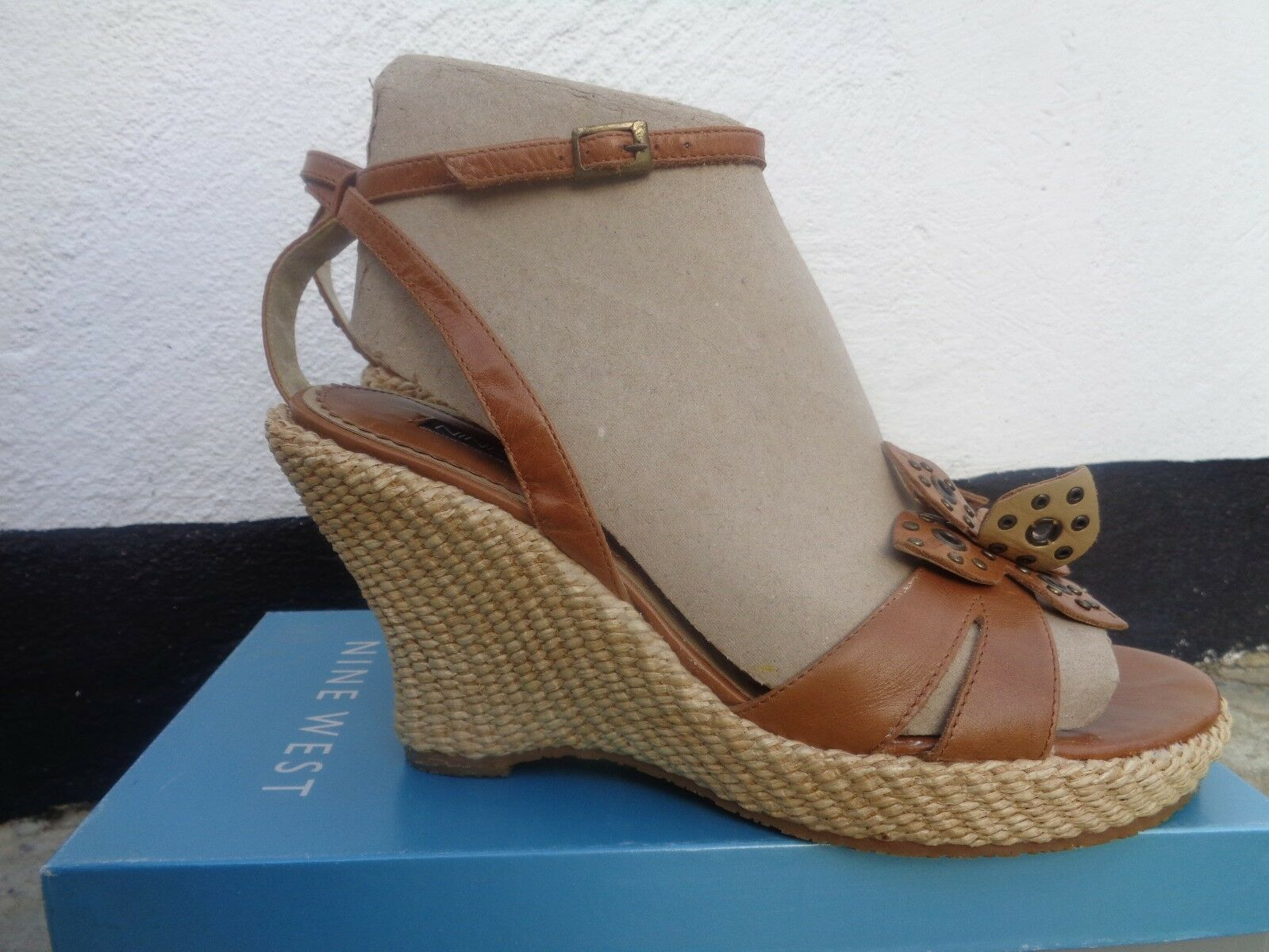 Nine west Taille 40 genuine leather wedge sandals NEXT TO TO TO NEW 59d09a