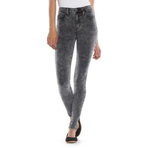 Juniors-039-Mudd-High-Waisted-Acid-Wash-Jeggings-Color-Black-Acid-MSRP-40-00