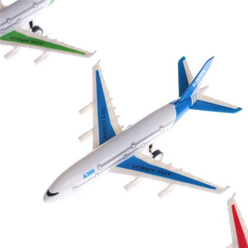 Plastic Air Bus Model Kids Children Pull Back Airliner Passenger Plane Model D/_N