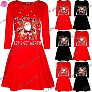 a65ac6fc47d1 Image is loading Womens-Ladies-Santa-Rudolph-Beer-Christmas-Xmas-Long-