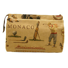 BELLY MODEN - LARGE MONACO GOLF TAPESTRY STYLE CLASSIC WASH BAG