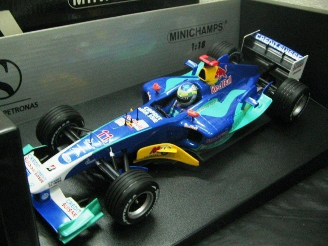 WOW EXTREMELY RARE Sauber 2004 C23 Fisichella British GP 1 18 Minichamps