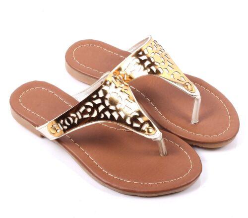 3 Color New Kids Summer Sandals Youth Flip Flops Girls Flats Shoes Size 11-4