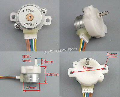 DC 12V 2 Phase 4 Wire Stepper Motor Full Metal Reduction Gear Box DC Motor