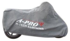 Telo-Copri-Moto-Scooter-Protezione-Anti-Polvere-Copertura-da-Interno-Grigio-M
