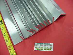 "10 Pieces 1-1/2""x 1-1/2""x 1/8"" ALUMINUM 6061 ANGLE BAR 16"" long T6 Mill Stock"