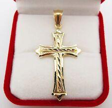 Mens 10k yellow gold cross pendant diamond cut gold crucifix charm mens 10k yellow gold cross pendant diamond cut gold crucifix charm aloadofball Images