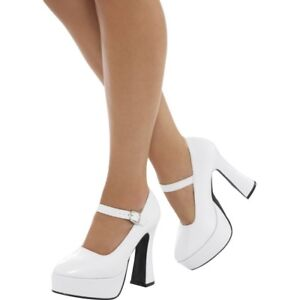 Details zu Damen 70er Jahre Plateau Schuhe Erwachsene 60er Jahre Gogo Stiefel Hippie Kostüm